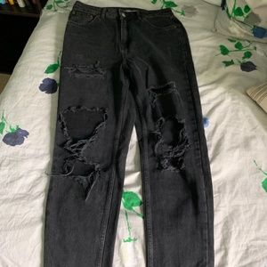 TOPSHOP MODA Mom Ripped Jeans